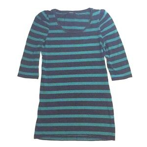 FOREVER 21 3/4 Sleeve Striped Tunic
